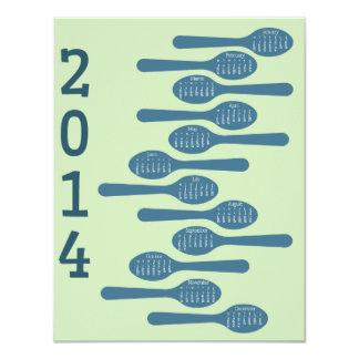2014 calendarios de cocinar para el negocio invitación 10,8 x 13,9 cm