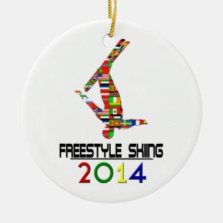 2014: Esquí del estilo libre Adorno Navideño Redondo De Cerámica