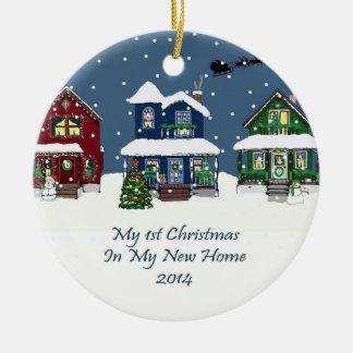 2014 mi nuevo navidad casero adorno navideño redondo de cerámica