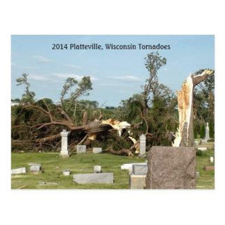 2014 Platteville, postal de los objetos de