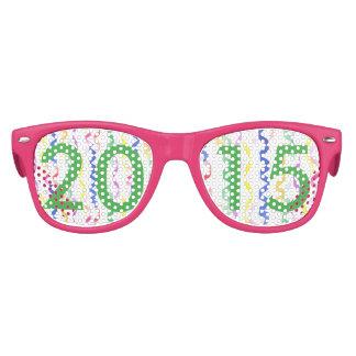 2015 flámulas del fiesta del Año Nuevo Gafas De Fiesta Retro