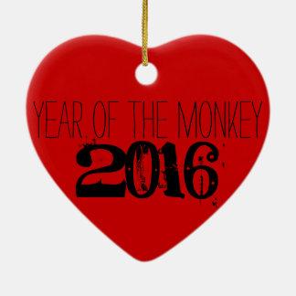 2016 años del Año Nuevo chino del mono Adorno Navideño De Cerámica En Forma De Corazón