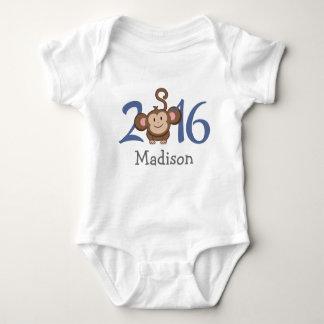 2016 años del mono (personalice la versión) body para bebé
