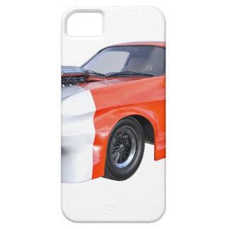 2016 coche anaranjado y blanco del músculo funda para iPhone SE/5/5s
