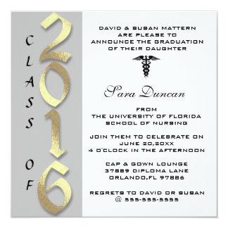 2016 graduaciones de cuidado elegante clásica invitación 13,3 cm x 13,3cm