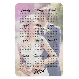 2016 imanes de la foto del calendario