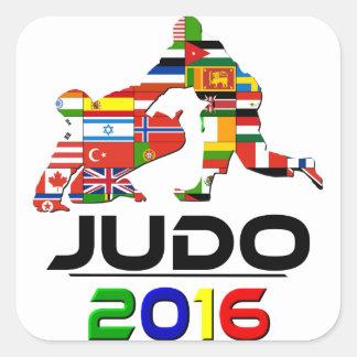 2016: Judo Pegatina Cuadrada
