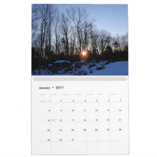 2017 calendario - naturaleza de New Hampshire de