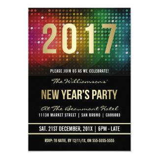 2017 celebración retra del disco del fiesta | del invitación 12,7 x 17,8 cm