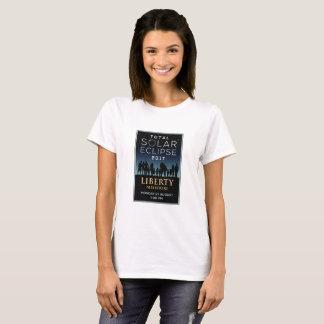 2017 eclipse solar total - libertad, MES Camiseta