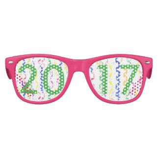 2017 flámulas del fiesta del Año Nuevo Gafas De Fiesta Retro