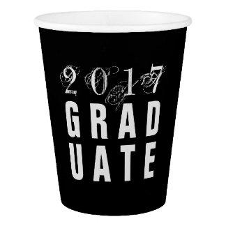 2017 tazas de papel del fiesta graduado vaso de papel