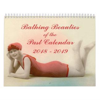2018 - 2019 bellezas de baño del último calendario
