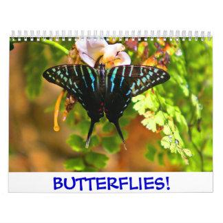 ¡2018 mariposas! Calendario