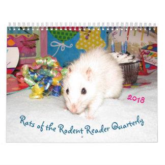 2018 RATAS del calendario B del lector del roedor