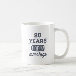 20 años de boda feliz taza de café