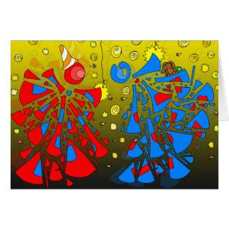 #216 - Duelo del mago Tarjeta De Felicitación