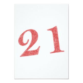 21 años de aniversario invitación 11,4 x 15,8 cm