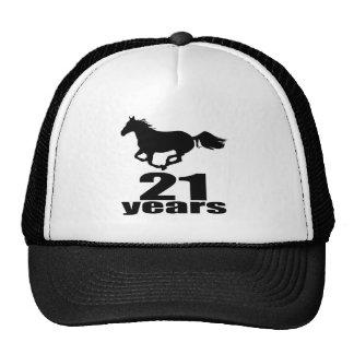 21 años de diseños del cumpleaños gorras