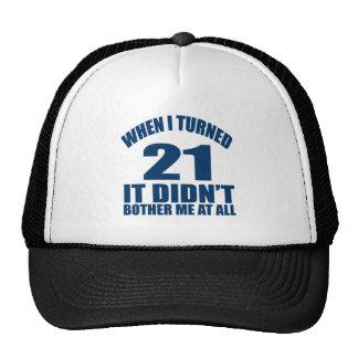21 diseños del cumpleaños gorras