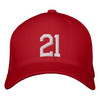 21 veinte uno gorras bordadas