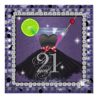 21a invitación de la fiesta de cumpleaños de BLiNG