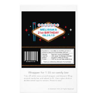 21ra envoltura de caramelo del cumpleaños de Las Folleto 14 X 21,6 Cm