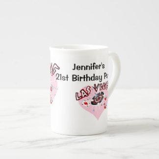 21ra fiesta de cumpleaños de Las Vegas Tazas De Porcelana
