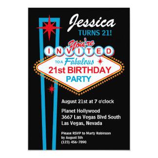 21ra invitación de la fiesta de cumpleaños de Las
