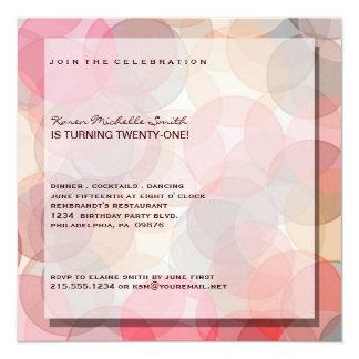 21ra invitación moderna minimalista de la fiesta