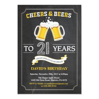 21ra tarjeta de la invitación del cumpleaños de