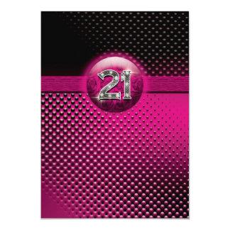 21ras invitaciones de la fiesta de cumpleaños - invitación 12,7 x 17,8 cm