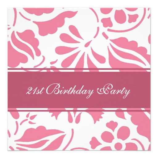 21ras invitaciones florales de la fiesta de cumple anuncio personalizado