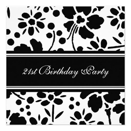 21ras invitaciones florales de la fiesta de cumple invitación