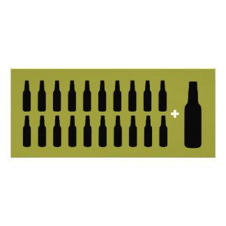 21ro Amante de la cerveza de la invitación de la f
