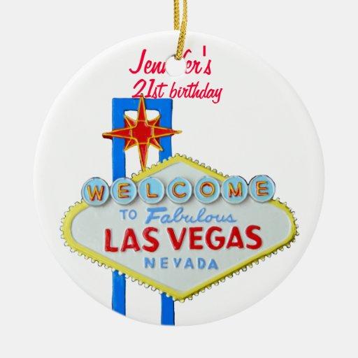 21ro colgante del cumpleaños de Las Vegas Ornaments Para Arbol De Navidad