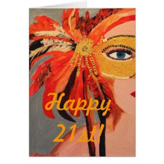 ¡21ro feliz! tarjeta pequeña