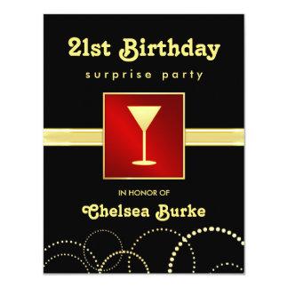 21ro Fiesta de sorpresa del cumpleaños - cualquier Invitación 10,8 X 13,9 Cm