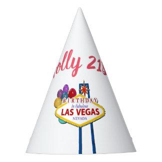 21ro gorra de la fiesta de cumpleaños de Las Vegas