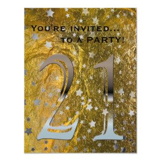 21ro Hoja de oro de la plata el   del negro de la Invitación 10,8 X 13,9 Cm