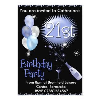 21ro Invitación de la fiesta de cumpleaños -