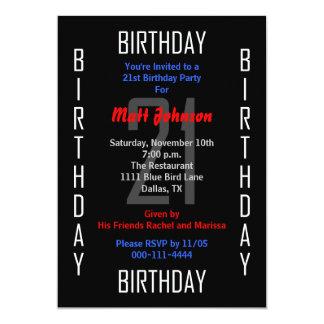 21ro Invitación de la fiesta de cumpleaños - 21