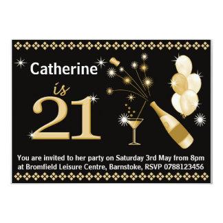 21ro Invitaciones de la fiesta de cumpleaños -