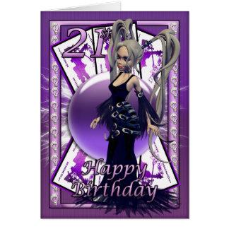 21ro Muñeca gótica de la tarjeta de cumpleaños sk