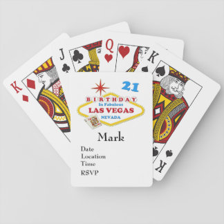 21ro Naipes del cumpleaños de Las Vegas