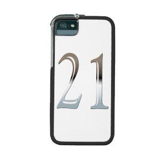 21ro Número de plata 21 del cumpleaños