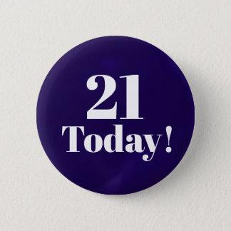 21ro (o cualesquiera) botón del cumpleaños de los