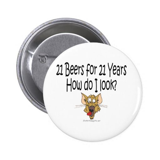 21ro Regalos de cumpleaños 21 cervezas por 21 años Pin de Zazzle.
