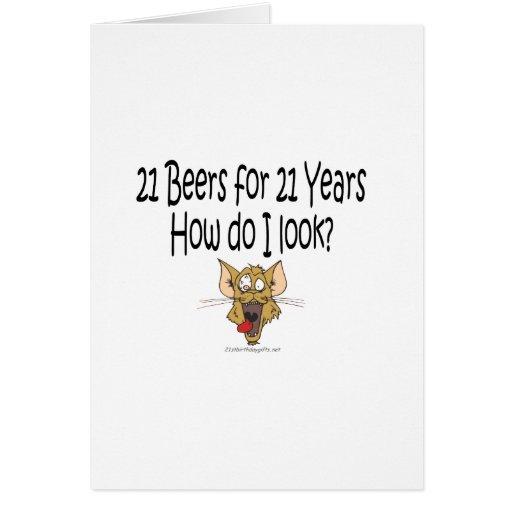 21ro Regalos de cumpleaños 21 cervezas por 21 años Felicitación de ...