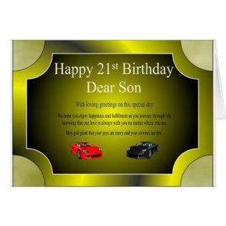 21ro Tarjeta de cumpleaños (hijo)